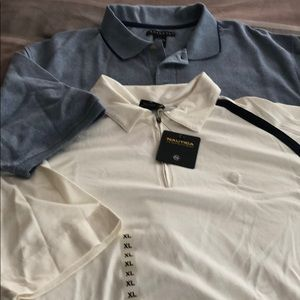 NWT 2 MENS POLO SHIRTS, NAUTICA & CONSENSUS SZ XL